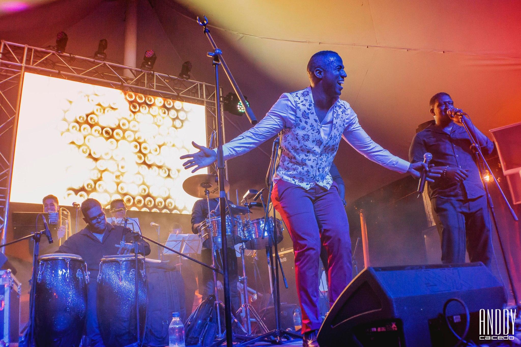 Anddy Caicedo concierto de salsa Colombia